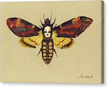 Death Head Hawk Moth Canvas Print by Juan Bosco