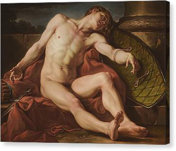 Death Of A Gladiator Canvas Print