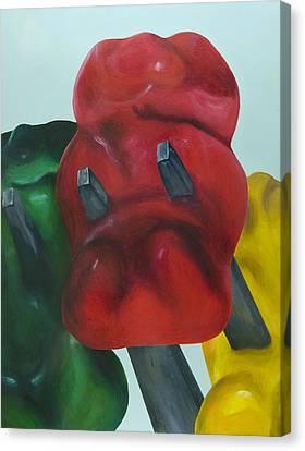 Death Of A Gummy Bear I Canvas Print by Josh Bernstein