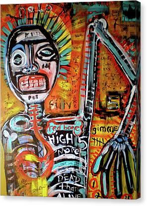 Death Of Basquiat Canvas Print by Robert Wolverton Jr
