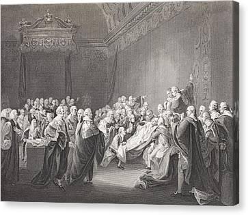 Death Of Chatham. William Pitt, 1st Canvas Print by Vintage Design Pics