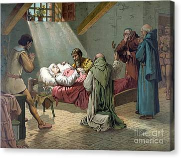 Death Of Columbus, 1506 Canvas Print by Science Source