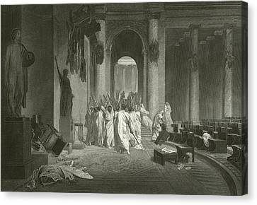 Death Of Julius Caesar, 44 Bc  Canvas Print by Jean Leon Gerome