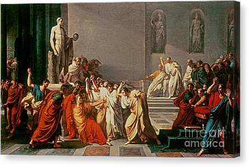 Death Of Julius Caesar Canvas Print by Vincenzo Camuccini