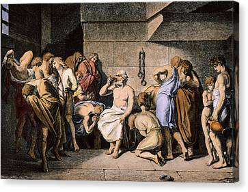 Death Of Socrates Canvas Print by Granger