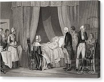 Founding Fathers Canvas Print - Death Of Washington December 1799 by American School