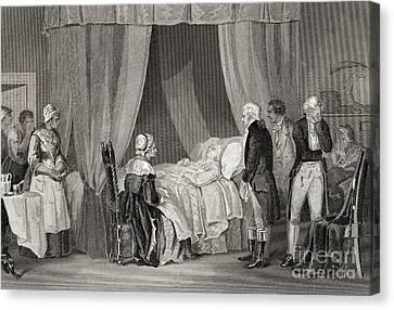 Death Of Washington December 1799 Canvas Print by American School