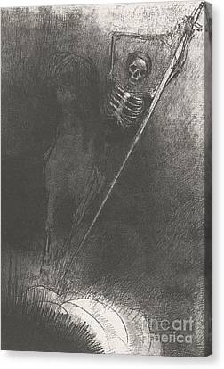 Grim Reaper Canvas Print - Death On A Horse by Odilon Redon