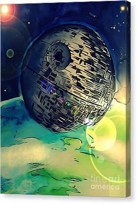 Death Star Illustration  Canvas Print