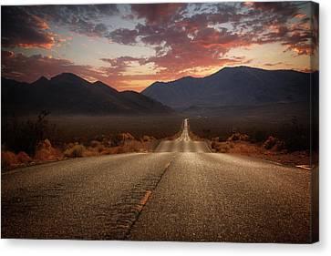 Death Valley Highway II Canvas Print by Ricky Barnard