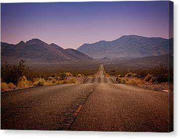 Death Valley Highway Canvas Print by Ricky Barnard