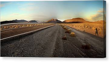 Death Valley Hitch Hiker Canvas Print by Gary Warnimont