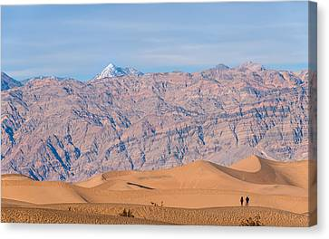 Panamint Valley Canvas Print - Death Valley Layers by Joseph Smith