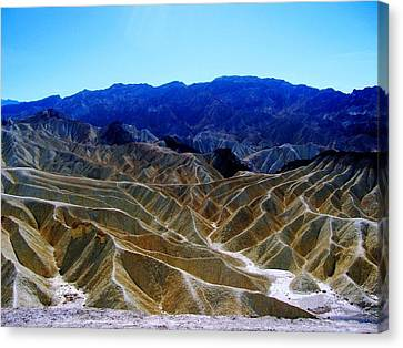 Canvas Print featuring the photograph Death Valley Moguls by Don Struke