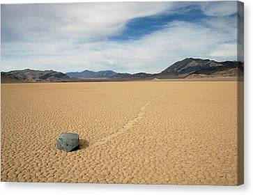 Canvas Print featuring the photograph Death Valley Ractrack by Breck Bartholomew