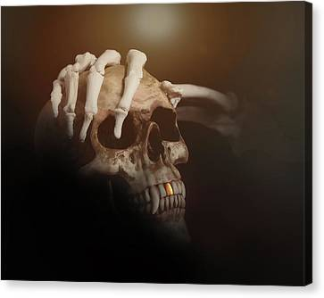 Death's Head Canvas Print by Tom Mc Nemar