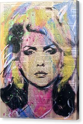Debbie Harry, Blondie Canvas Print by Venus