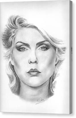 Debbie Harry Canvas Print by Karen  Townsend