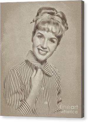 Debbie Reynolds, Actress Canvas Print by John Springfield