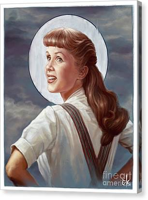 Debbie Reynolds Canvas Print by Andre Koekemoer