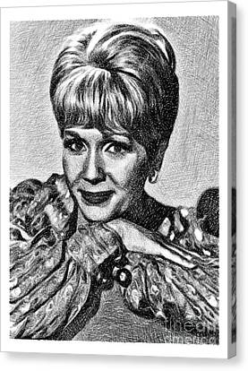 Debbie Canvas Print - Debbie Reynolds, Vintage Actress By Js by John Springfield
