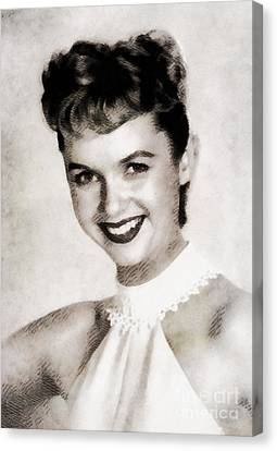 Debbie Reynolds, Vintage Actress Canvas Print