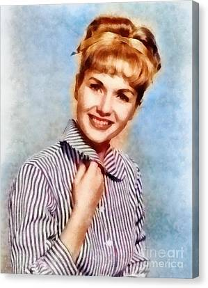 Debbie Reynolds, Vintage Hollywood Actress Canvas Print