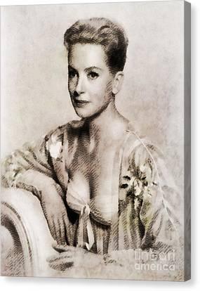 Deborah Kerr, Vintage Actress. Digital Art By John Springfield Canvas Print by John Springfield