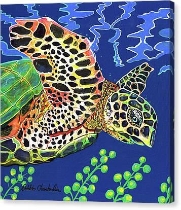 Debs Honu Canvas Print by Debbie Chamberlin