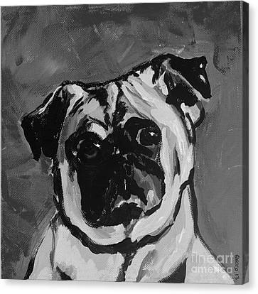 Deb's Ming Monochrome Canvas Print by Becca Lynn Weeks
