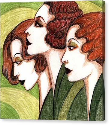 Debutante Trio Canvas Print