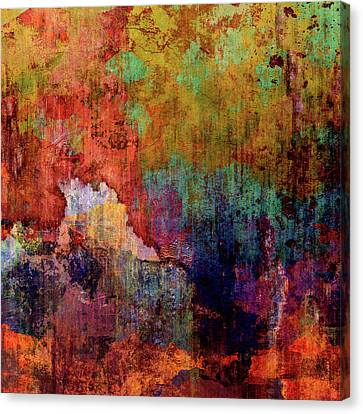 Decadent Urban Red Wall Grunge Abstract Canvas Print