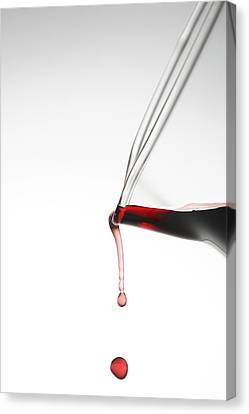 Pouring Wine Canvas Print - Decanter by Frank Tschakert
