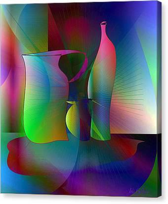 Decanters Canvas Print by Iris Gelbart