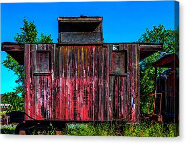 Decaying Caboose Canvas Print