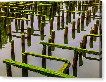 Decaying Old Dock Canvas Print by Garry Gay