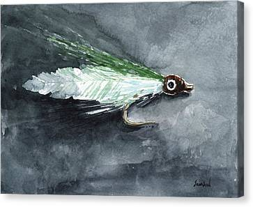 Deceiver Fishing Fly Canvas Print by Sean Seal