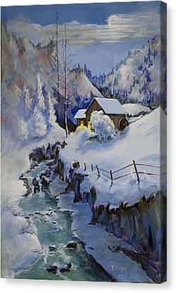 December Evening Canvas Print by Bob Duncan