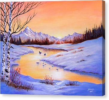 December Shimmer Canvas Print by C Steele