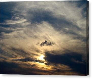 December Sky Canvas Print by Ana Villaronga