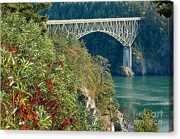 Oak Harbor Canvas Print - Deception Pass Bridge by Adam Jewell