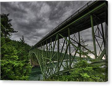 Oak Harbor Canvas Print - Deception Pass Bridge - Oak Harbor, Wa by Kevin Pate