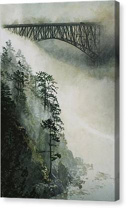 Deception Pass Fog Canvas Print