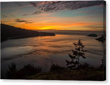 Deception Pass Sunset Canvas Print by Calazone's Flics