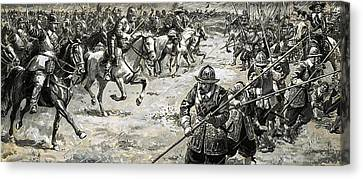 Decisive Battles  Where King Charles Lost His Crown Canvas Print by CL Doughty
