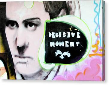 Canvas Print featuring the photograph Decisive Moment by Art Block Collections