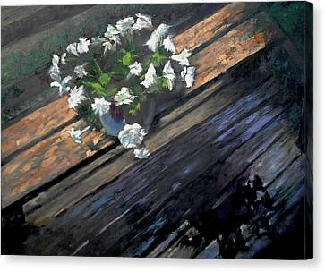Deck Flowers #1 Canvas Print by Brian Kardell