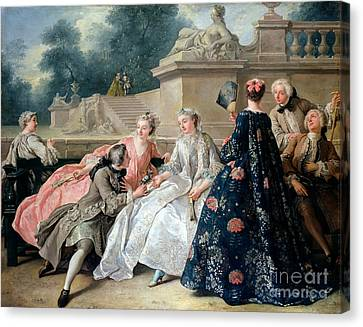 Declaration Of Love Canvas Print by Jean Francois de Troy