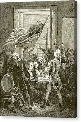 Declaration Of The Independence Of The United States Canvas Print by American School