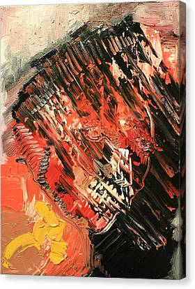 Declaration Of War Self Portrait Canvas Print by Michael Kulick